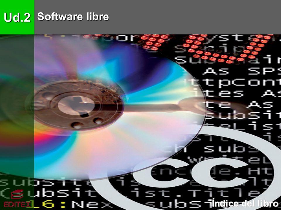 Ud.2 Software libre Índice del libro Índice del libro