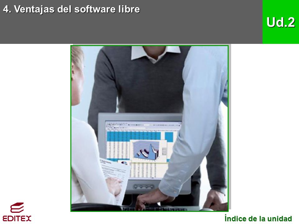 4. Ventajas del software libre Ud.2 Índice de la unidad Índice de la unidad