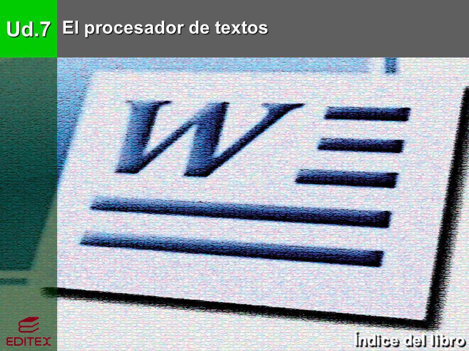 Ud.7 El procesador de textos 1.El procesador de textos 1.1.