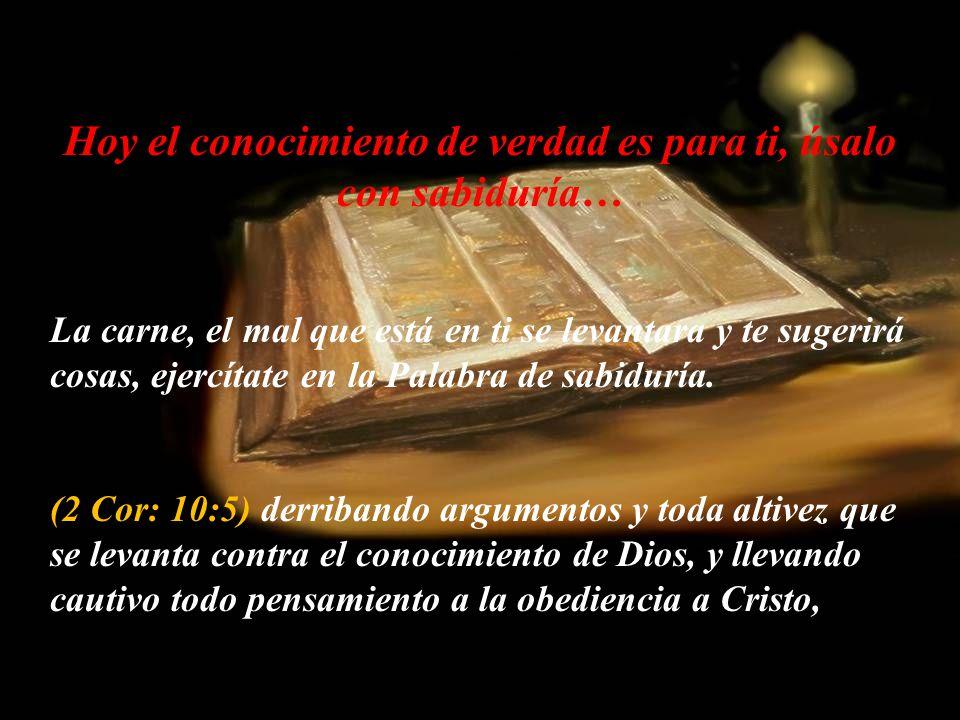 Recuerda esto… Tenemos el Espíritu del Señor!!! (Isa: 11:2) Y reposará sobre él el Espíritu de Jehová; espíritu de sabiduría y de inteligencia, espíri