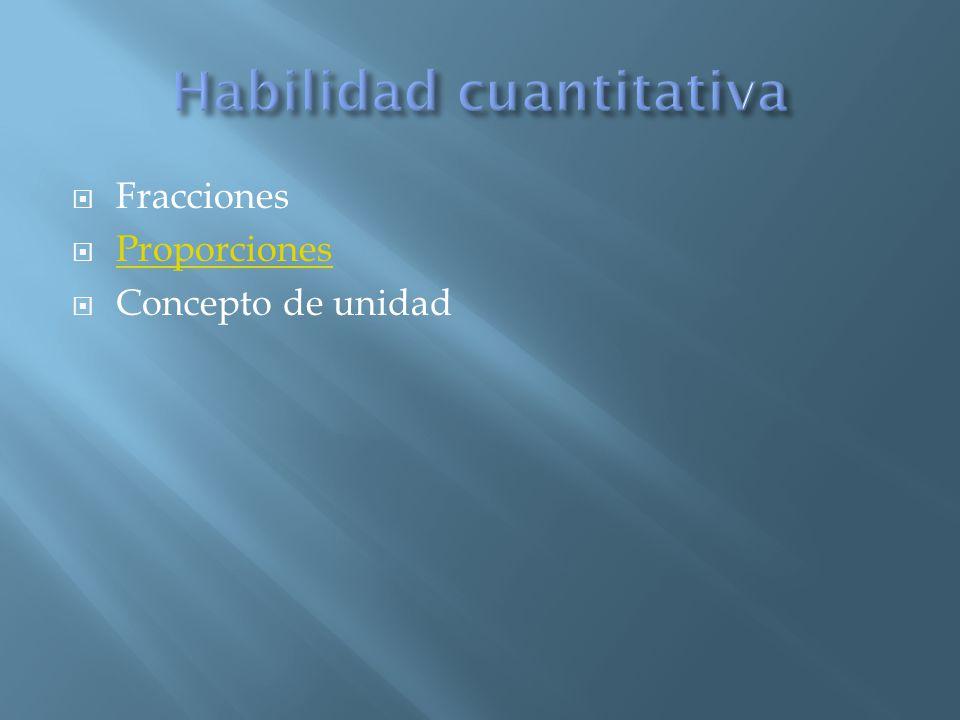 Fracciones Proporciones Concepto de unidad