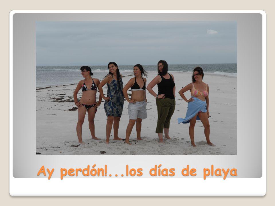 Ay perdón!...los días de playa