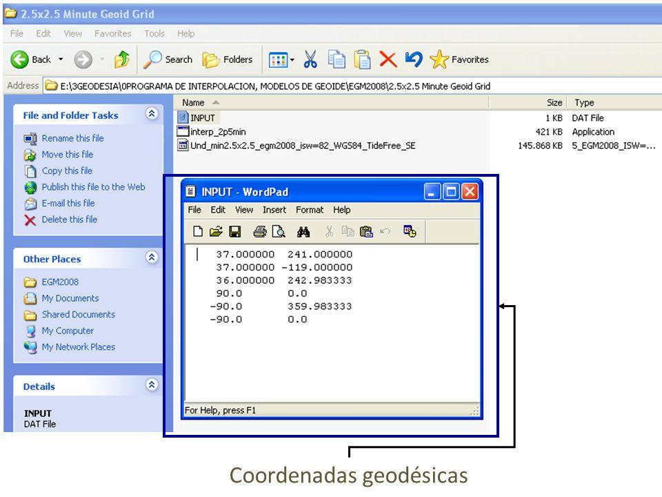 Coordenadas geodésicas