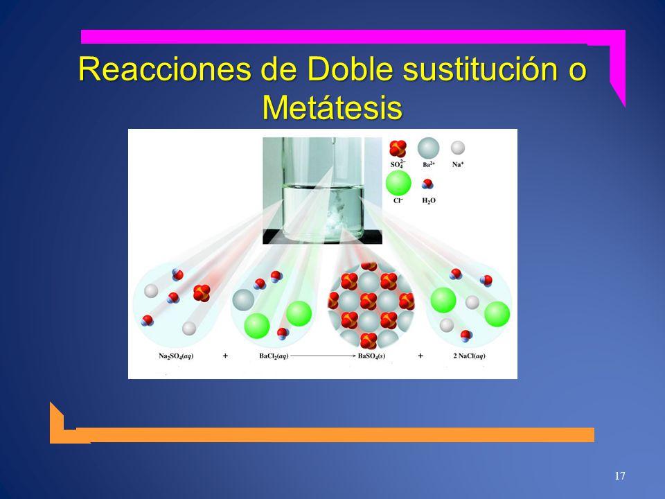 Reacciones de Doble sustitución o Metátesis 17