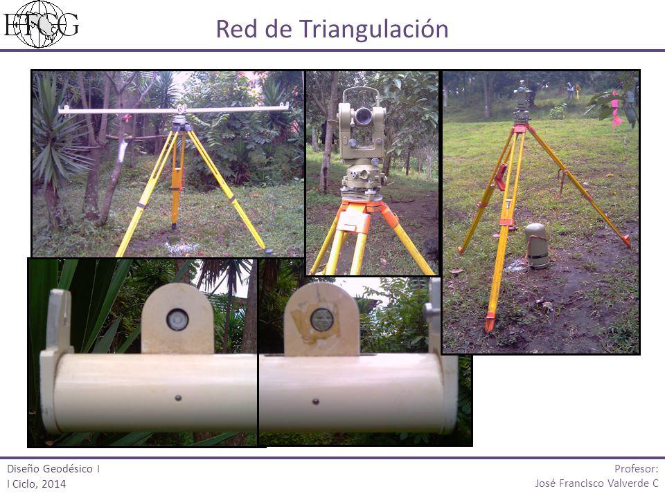 Red de Triangulación Profesor: José Francisco Valverde C Diseño Geodésico I I Ciclo, 2014