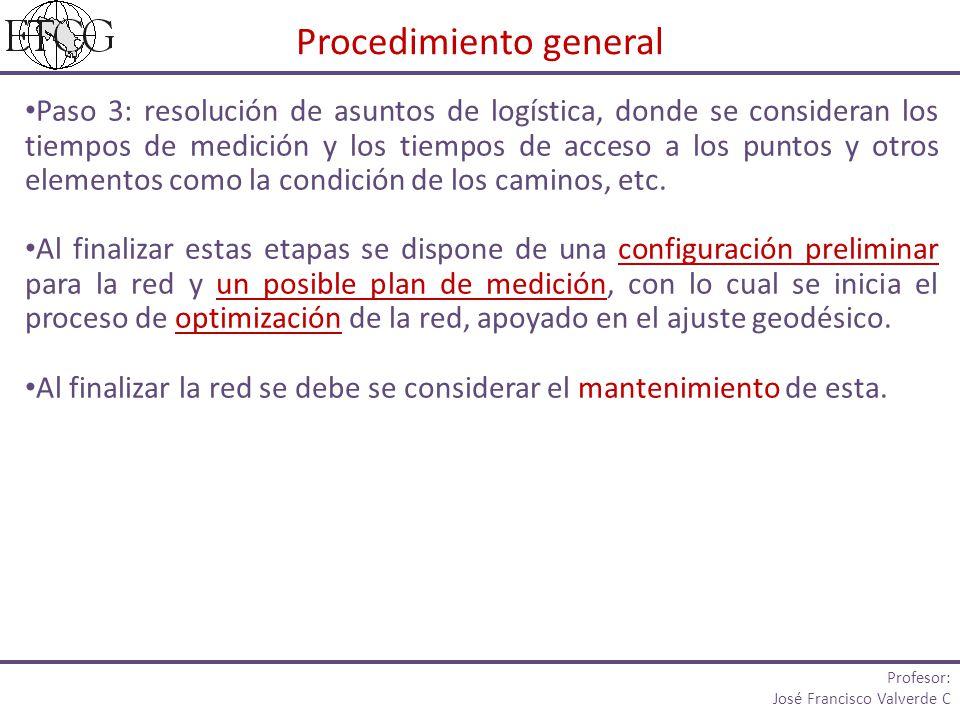 Paso 3: resolución de asuntos de logística, donde se consideran los tiempos de medición y los tiempos de acceso a los puntos y otros elementos como la