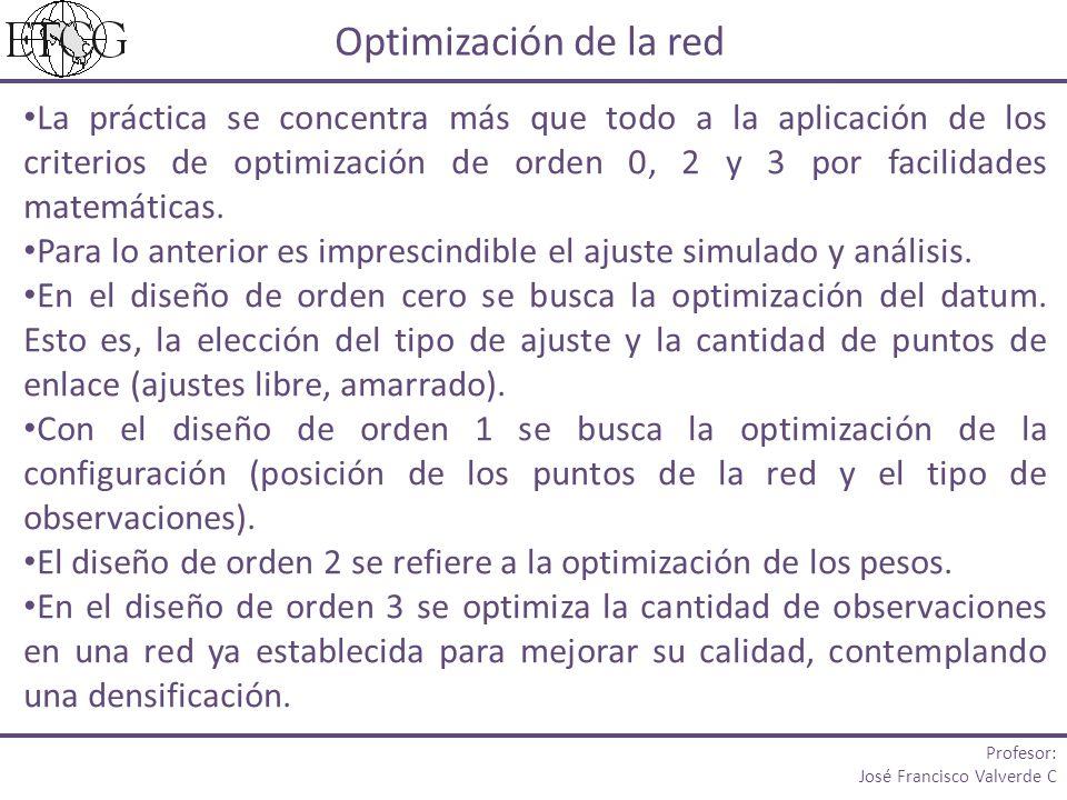 La práctica se concentra más que todo a la aplicación de los criterios de optimización de orden 0, 2 y 3 por facilidades matemáticas. Para lo anterior