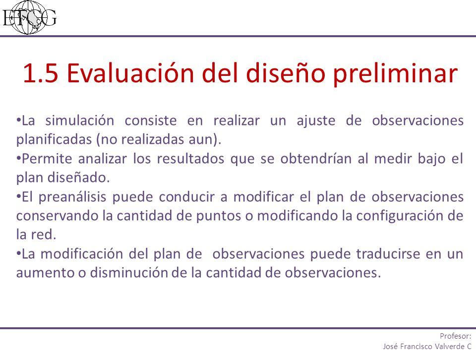 La simulación consiste en realizar un ajuste de observaciones planificadas (no realizadas aun).