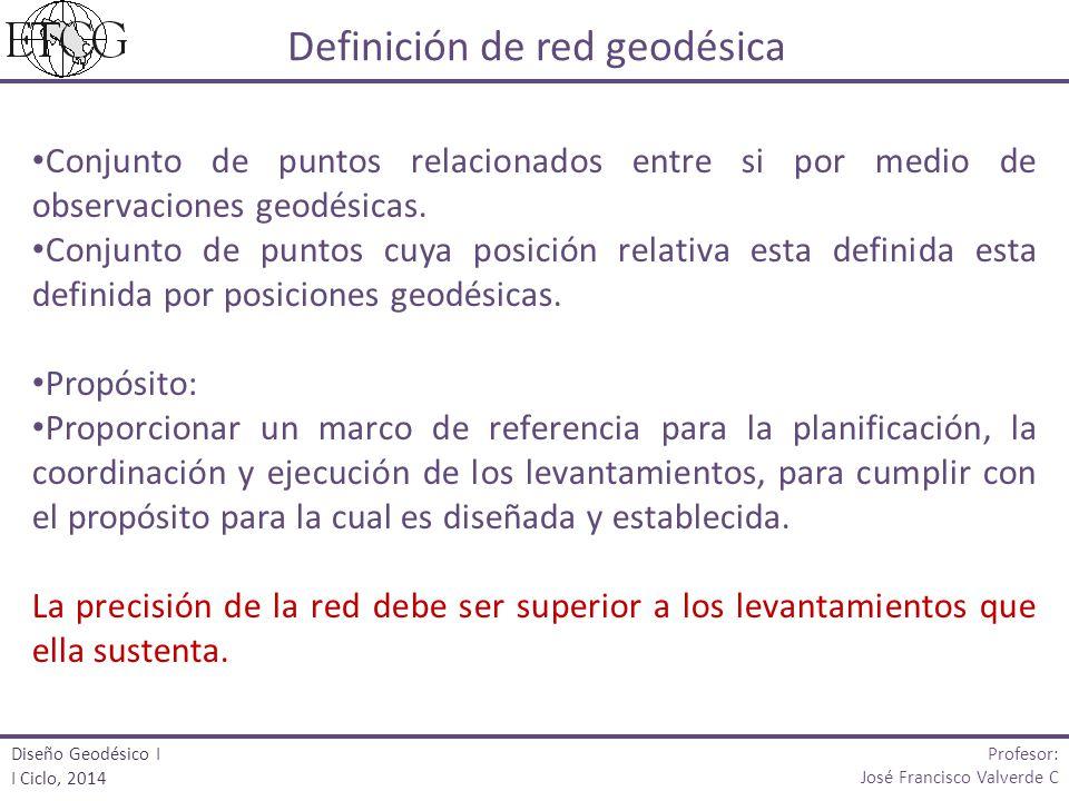 Conjunto de puntos relacionados entre si por medio de observaciones geodésicas. Conjunto de puntos cuya posición relativa esta definida esta definida