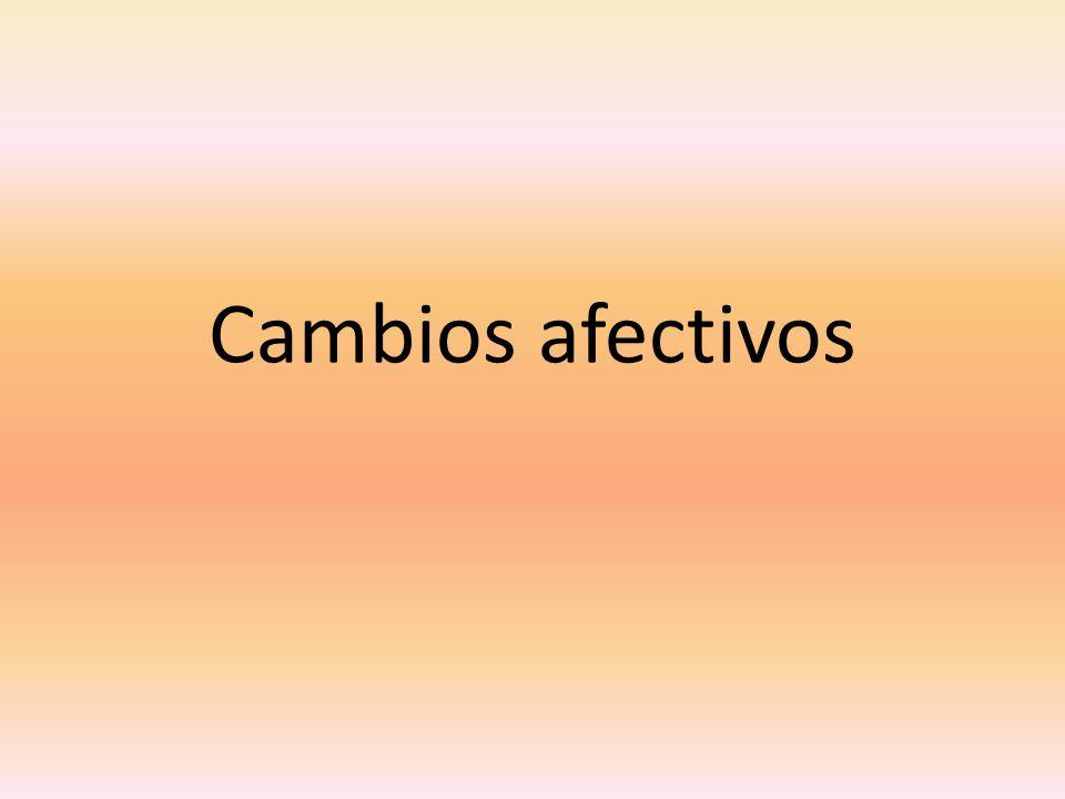 Cambios continuos de estados de ánimo; se vuelven irritables, tensos, ansiosos y sensibles.