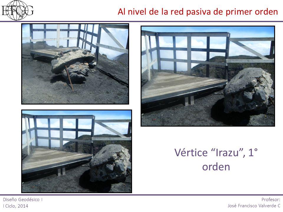 Diseño Geodésico I I Ciclo, 2014 Al nivel de la red pasiva de primer orden Vértice Irazu, 1° orden Profesor: José Francisco Valverde C