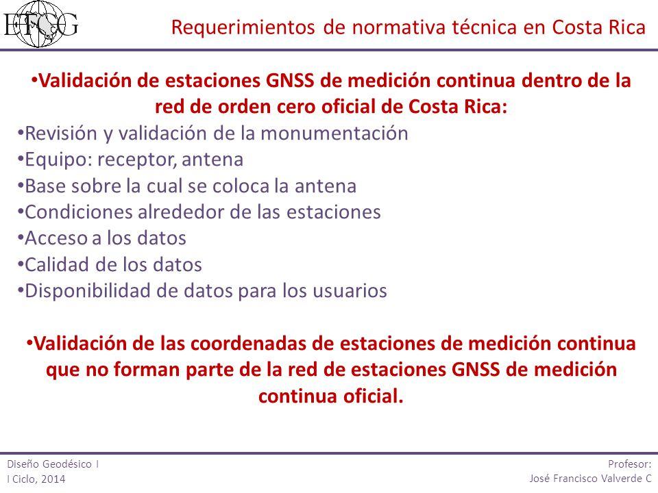 Validación de estaciones GNSS de medición continua dentro de la red de orden cero oficial de Costa Rica: Revisión y validación de la monumentación Equ