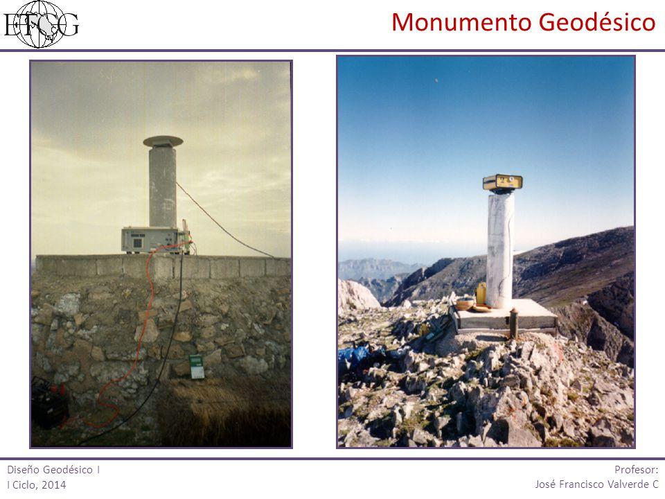 Diseño Geodésico I I Ciclo, 2014 Profesor: José Francisco Valverde C Monumento Geodésico