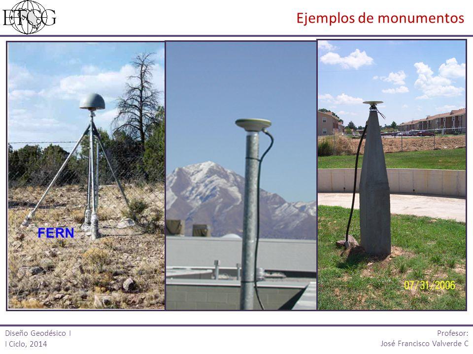 Diseño Geodésico I I Ciclo, 2014 Profesor: José Francisco Valverde C Ejemplos de monumentos