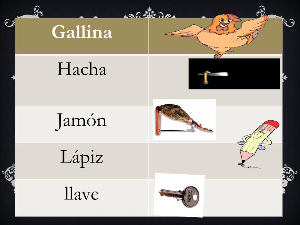 Gallina Hacha Jamón Lápiz llave