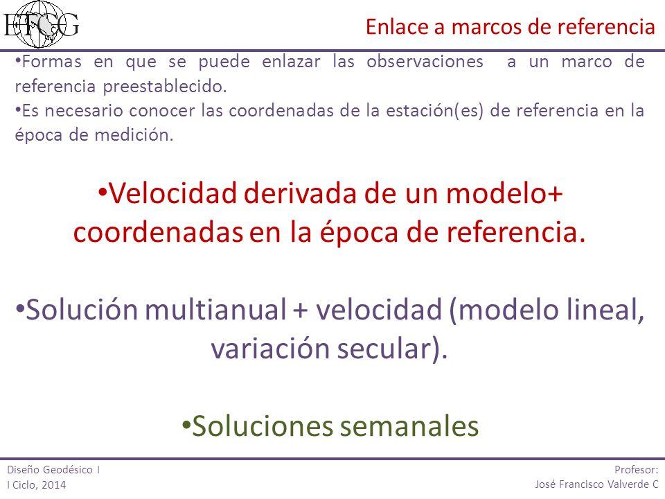 Formas en que se puede enlazar las observaciones a un marco de referencia preestablecido. Es necesario conocer las coordenadas de la estación(es) de r
