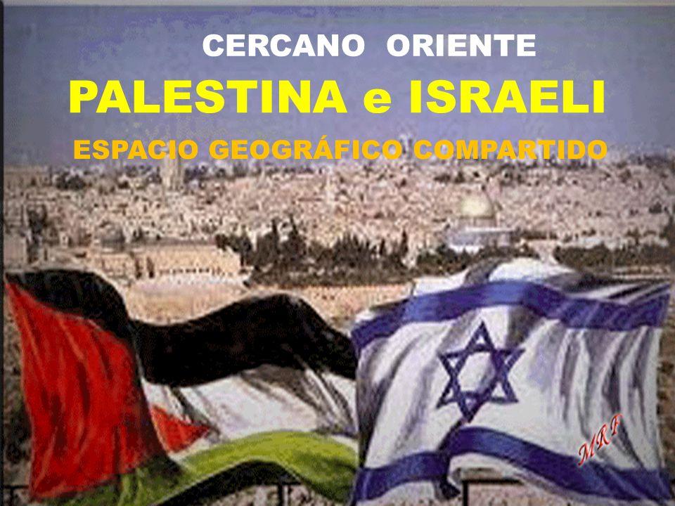 CERCANO ORIENTE PALESTINA e ISRAELI ESPACIO GEOGRÁFICO COMPARTIDO