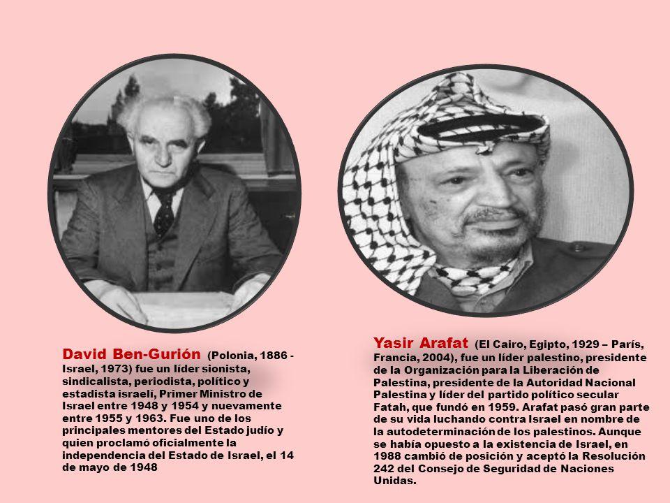 David Ben-Gurión (Polonia, 1886 - Israel, 1973) fue un líder sionista, sindicalista, periodista, político y estadista israelí, Primer Ministro de Isra