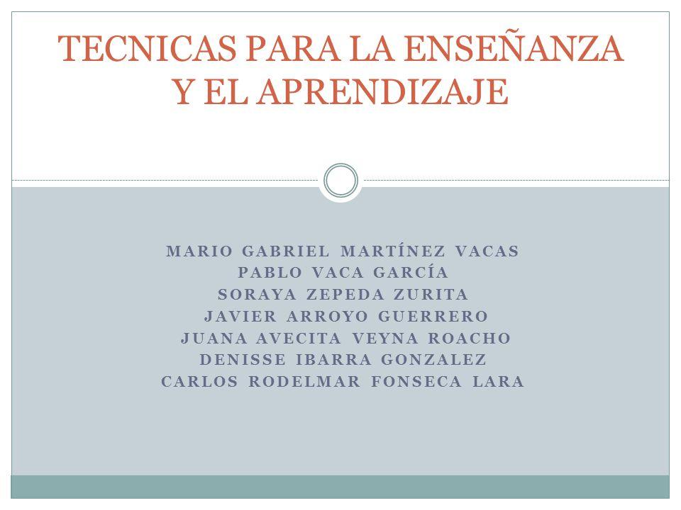 MARIO GABRIEL MARTÍNEZ VACAS PABLO VACA GARCÍA SORAYA ZEPEDA ZURITA JAVIER ARROYO GUERRERO JUANA AVECITA VEYNA ROACHO DENISSE IBARRA GONZALEZ CARLOS R