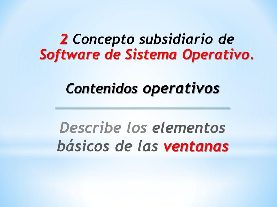 2 2 Concepto subsidiario de Software de Sistema Operativo.