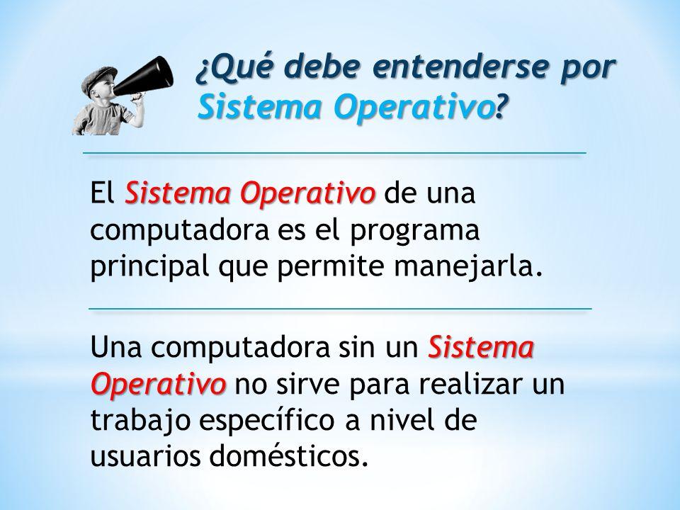 ¿Qué debe entenderse por Sistema Operativo.