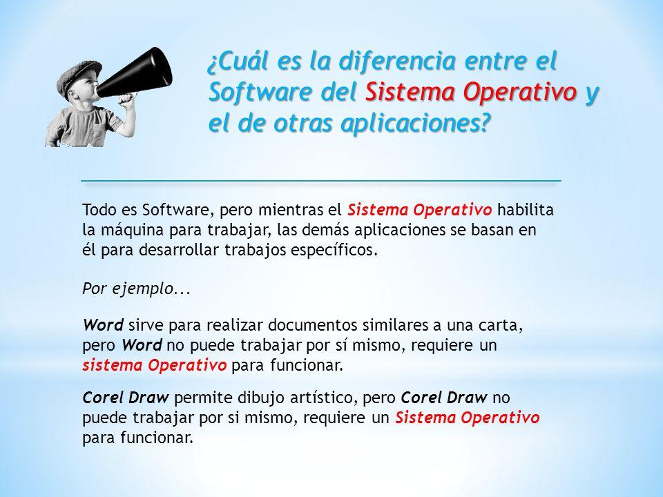¿Cuál es la diferencia entre el Software del Sistema Operativo y el de otras aplicaciones.