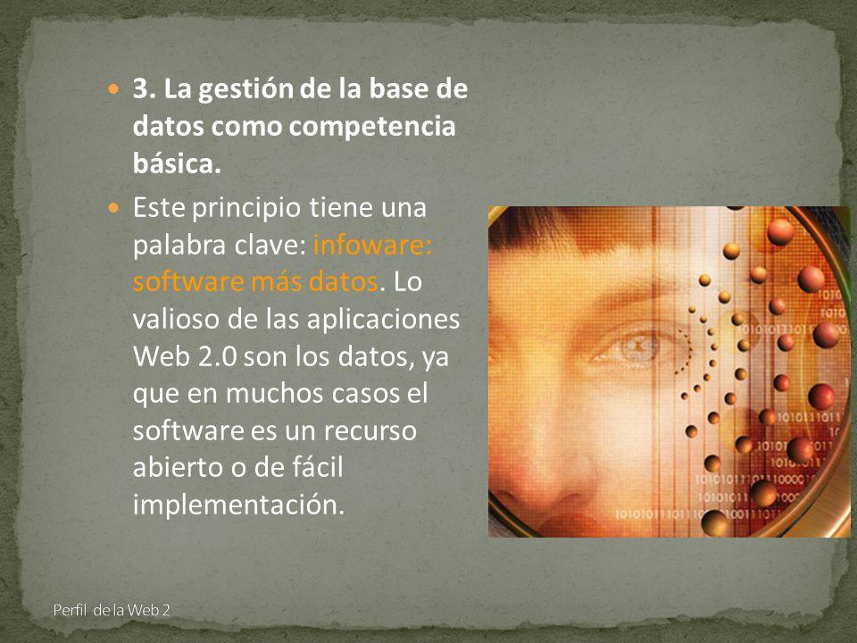 3. La gestión de la base de datos como competencia básica.