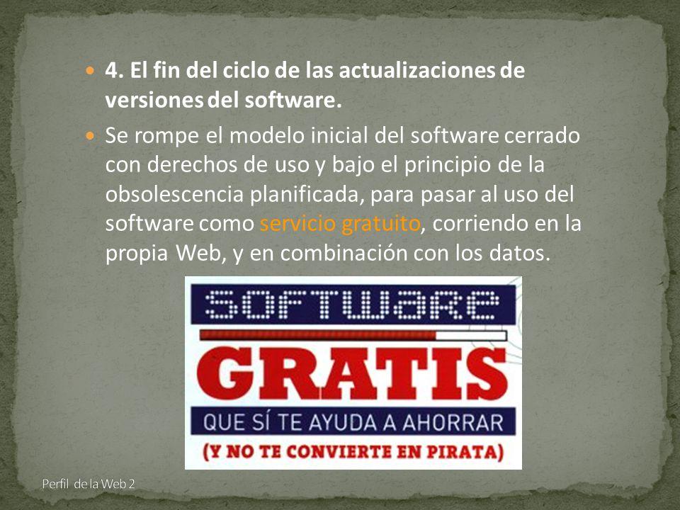 4. El fin del ciclo de las actualizaciones de versiones del software.