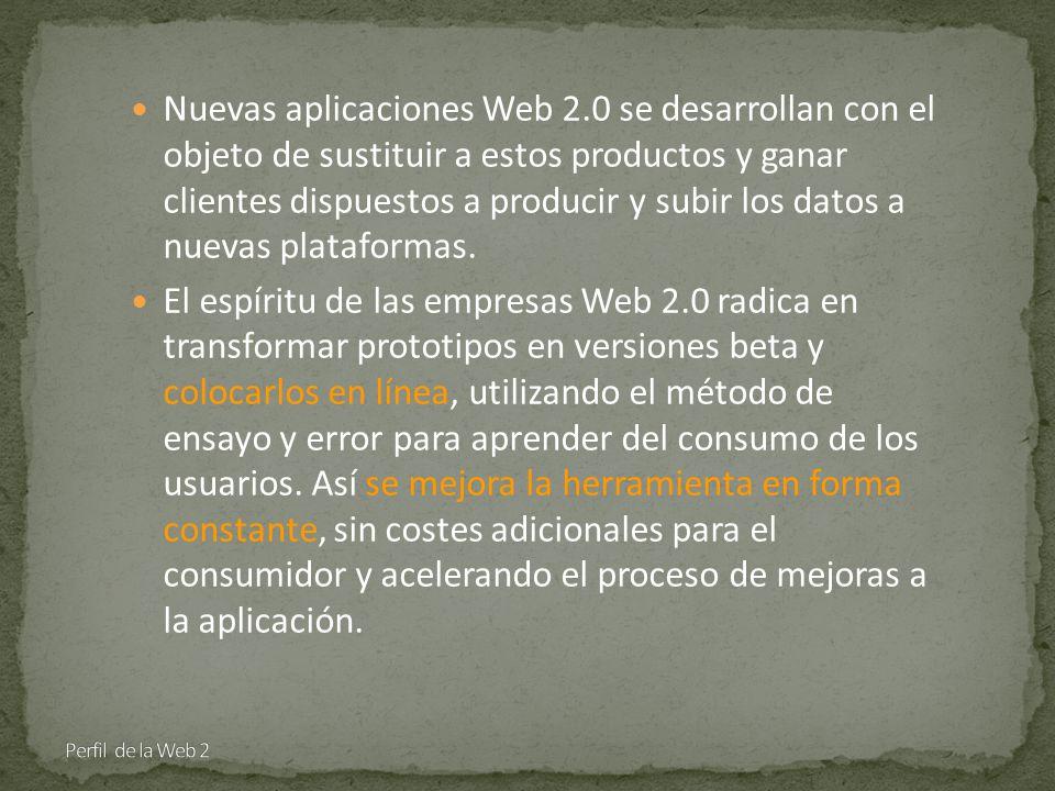 Nuevas aplicaciones Web 2.0 se desarrollan con el objeto de sustituir a estos productos y ganar clientes dispuestos a producir y subir los datos a nuevas plataformas.