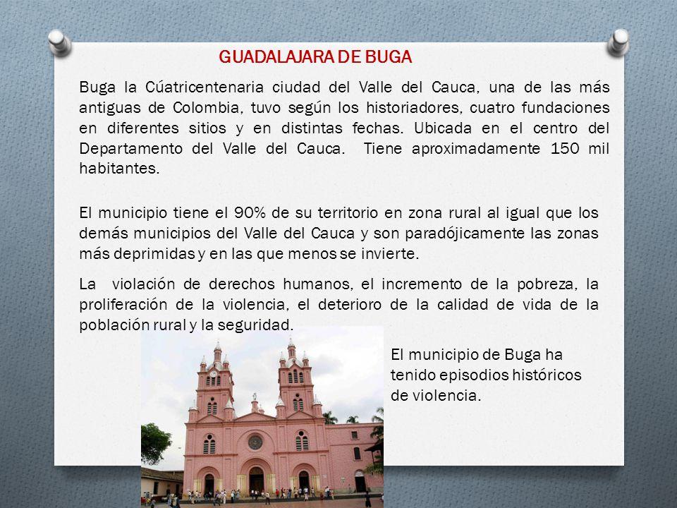 GUADALAJARA DE BUGA Buga la Cúatricentenaria ciudad del Valle del Cauca, una de las más antiguas de Colombia, tuvo según los historiadores, cuatro fun