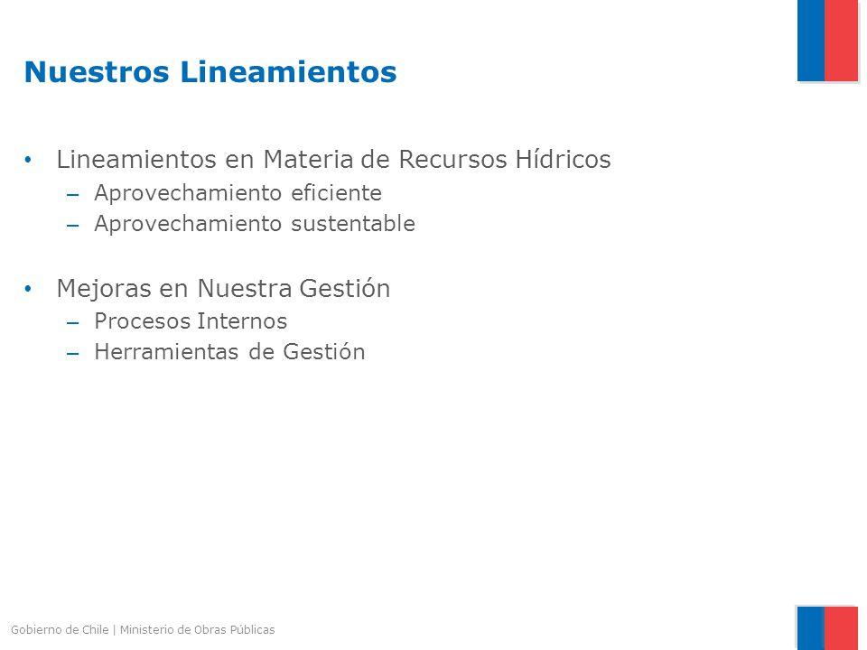 Nuestros Lineamientos Lineamientos en Materia de Recursos Hídricos – Aprovechamiento eficiente – Aprovechamiento sustentable Mejoras en Nuestra Gestió