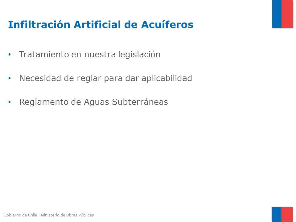 Infiltración Artificial de Acuíferos Tratamiento en nuestra legislación Necesidad de reglar para dar aplicabilidad Reglamento de Aguas Subterráneas Go