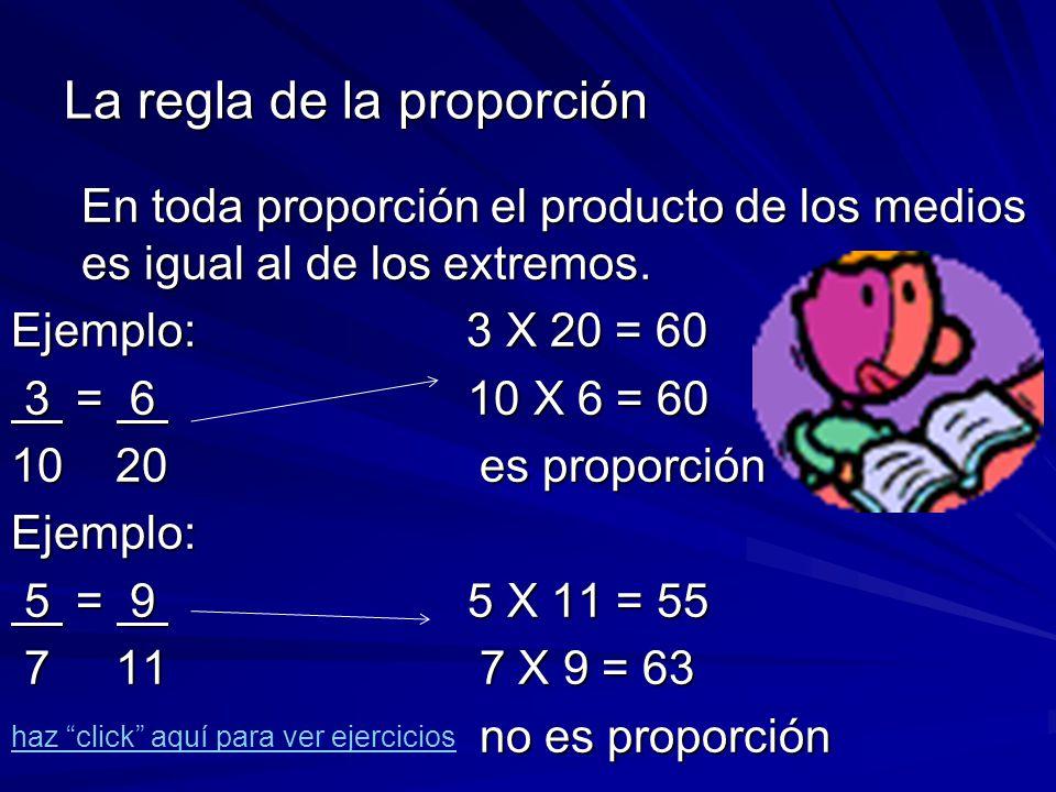 Proporción Comparación entre dos razones iguales. Se basa en la idea de números fraccionarios equivalentes. Comparación entre dos razones iguales. Se
