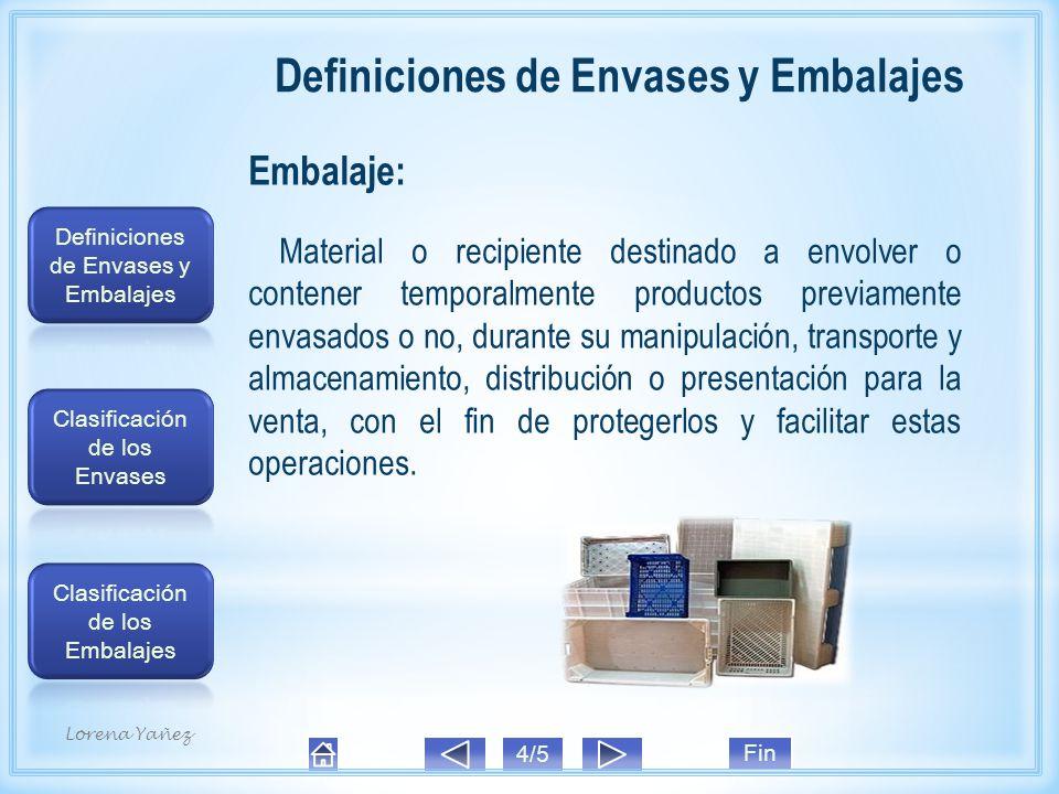 Embalaje: Material o recipiente destinado a envolver o contener temporalmente productos previamente envasados o no, durante su manipulación, transporte y almacenamiento, distribución o presentación para la venta, con el fin de protegerlos y facilitar estas operaciones.