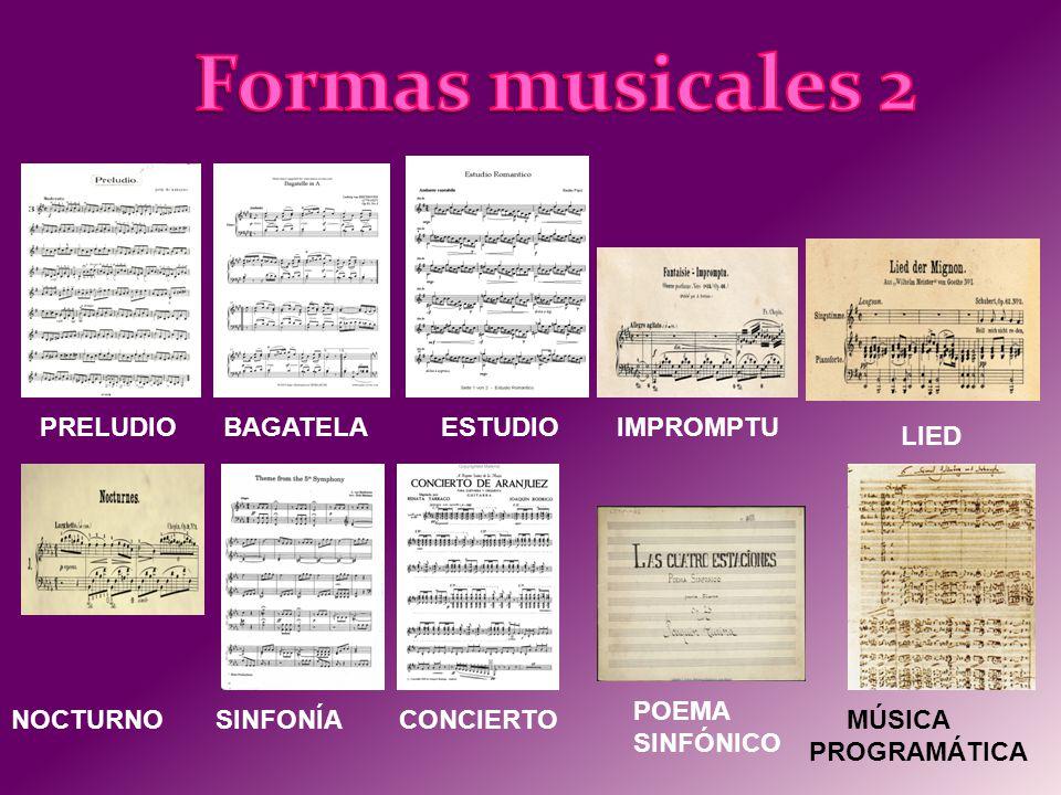 Los principales compositores son: Primer romanticismo: Beethoven, Schubert y Rossini Romanticismo pleno: Chopin, Liszt, Schumann, Berlioz, Mendelssohn, Bellini, Verdi y Wagner.