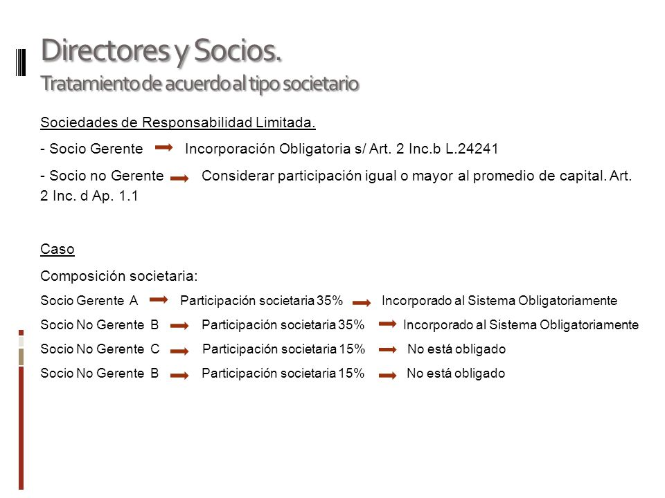 Directores y Socios.