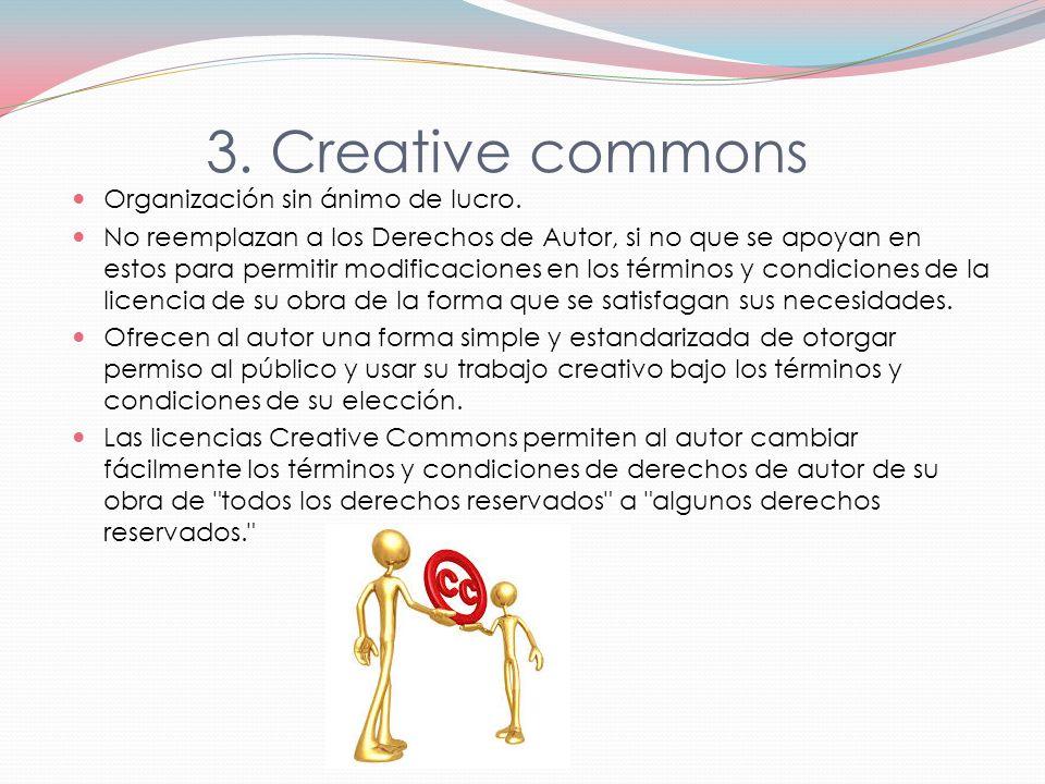 3.Creative commons Organización sin ánimo de lucro.