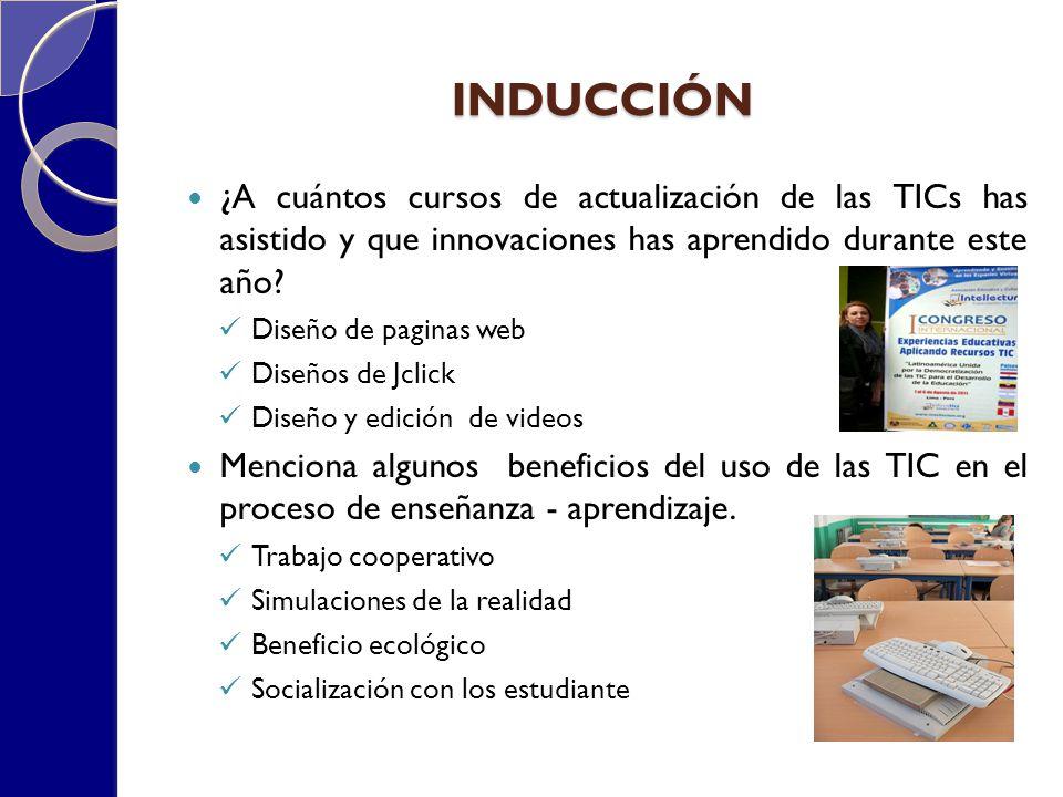 CAPACITACIÓN DOCENTE EN EL CAMPO DE LAS TICs En la institución donde laboras consideran en el plan de trabajo la capacitación docente en las TIC (SI) (NO) ¿por qué.