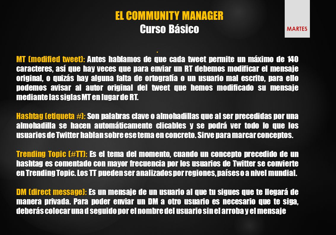 EL COMMUNITY MANAGER Curso Básico.