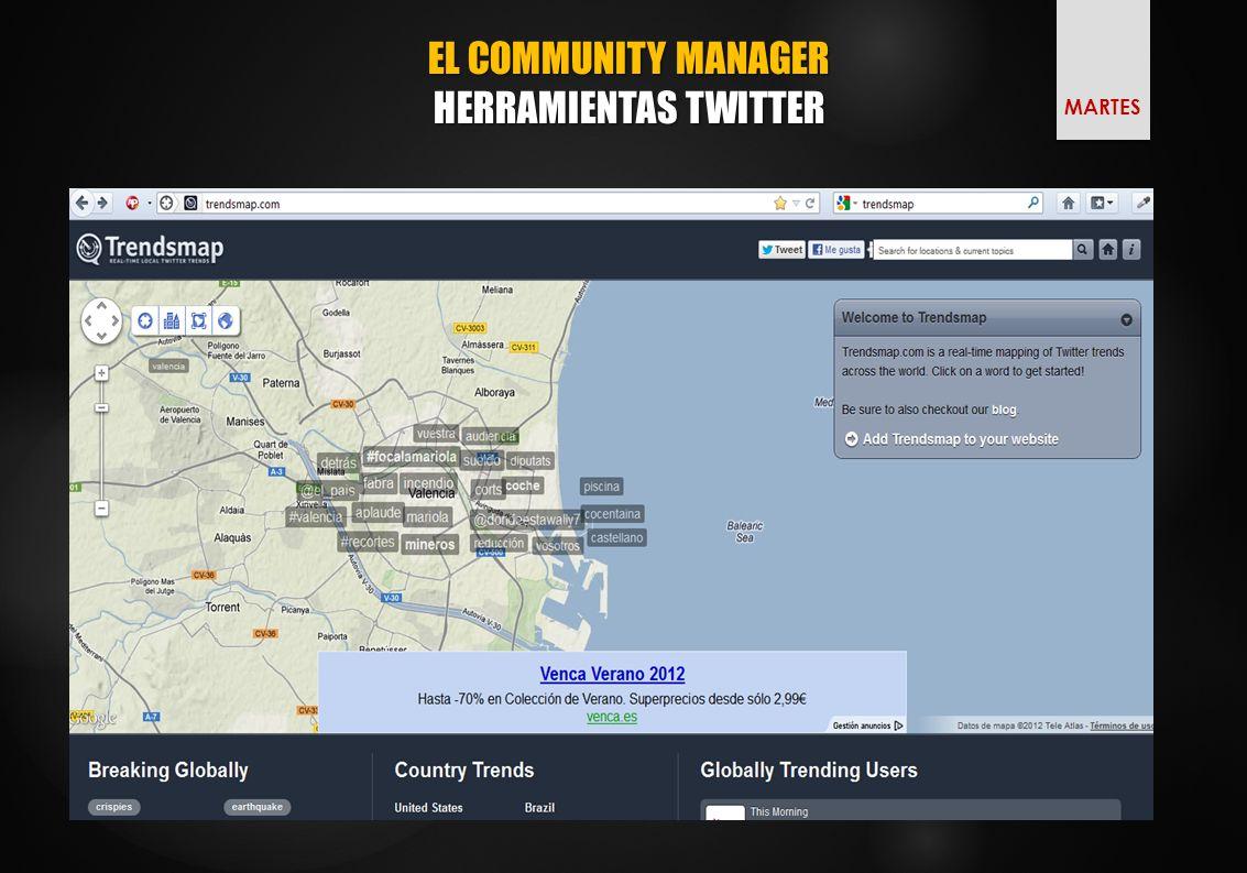 EL COMMUNITY MANAGER HERRAMIENTAS TWITTER MARTES