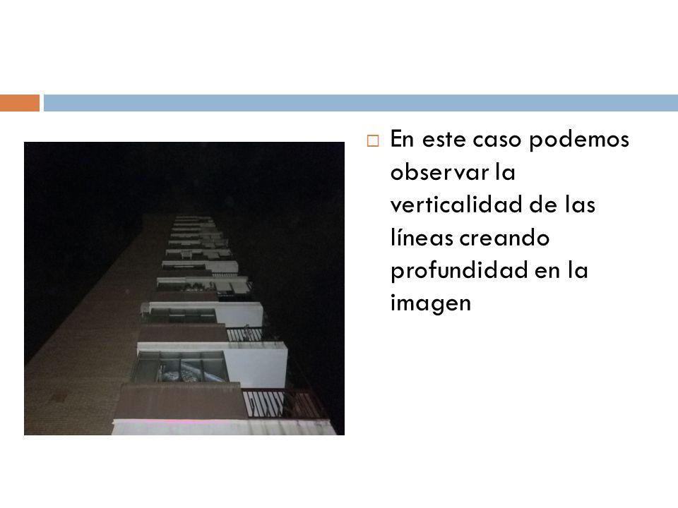 En este caso podemos observar la verticalidad de las líneas creando profundidad en la imagen