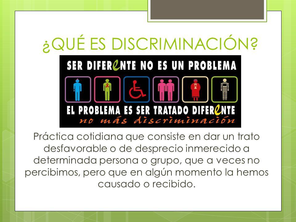 Tipos de discriminación 1.Racismo y xenofobia. 2.