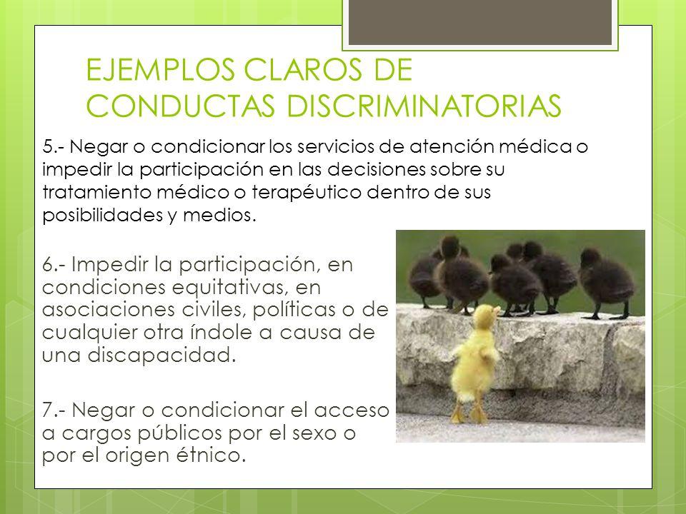 REFLEXIONA Y RESPONDE Nombra a algunos grupos de tu sociedad que creas que son víctimas frecuentes de discriminación.