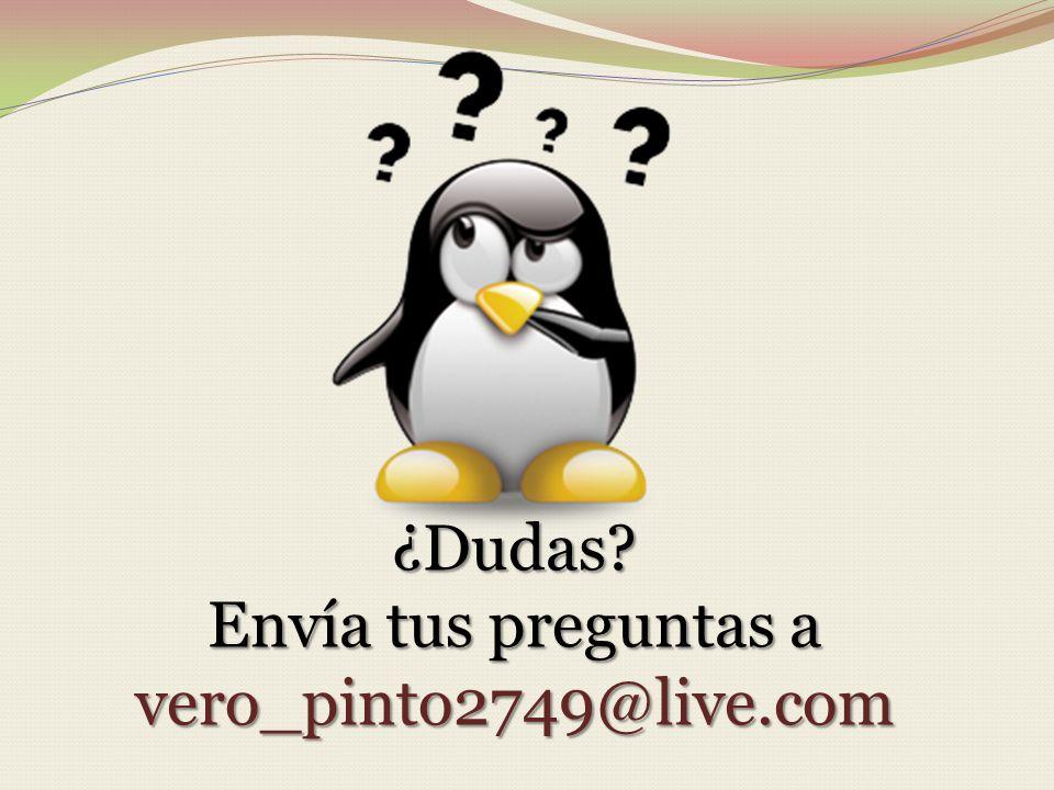 ¿Dudas? Envía tus preguntas a vero_pinto2749@live.com