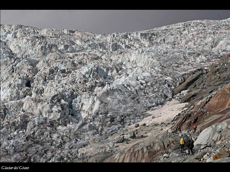 Refugio de Cosmiques y Mont Blanc du Tacul