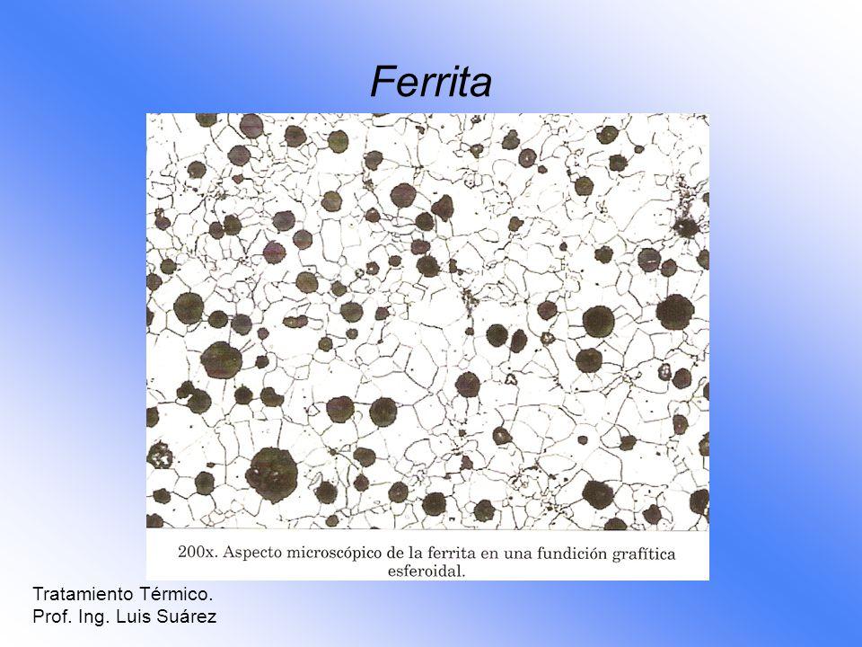 Ferrita Tratamiento Térmico. Prof. Ing. Luis Suárez