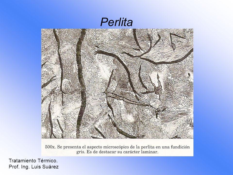 Perlita Tratamiento Térmico. Prof. Ing. Luis Suárez