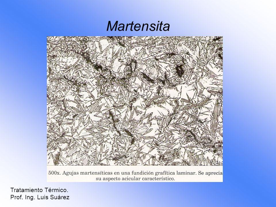Martensita Tratamiento Térmico. Prof. Ing. Luis Suárez
