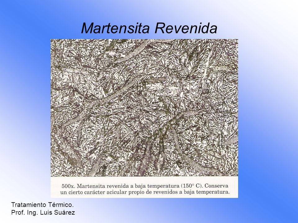 Martensita Revenida Tratamiento Térmico. Prof. Ing. Luis Suárez