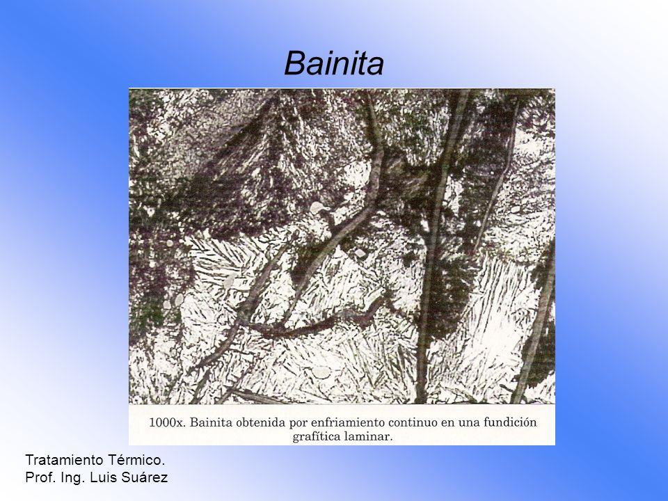 Bainita Tratamiento Térmico. Prof. Ing. Luis Suárez
